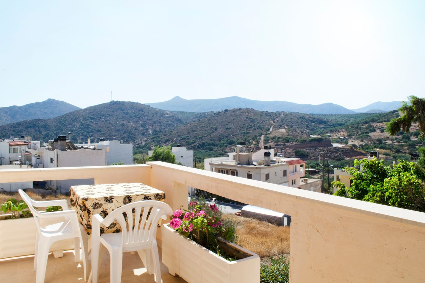 View from the balcony to Palekastro Village