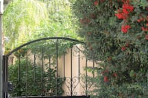 Keyed private gated enterance to Casita Luz Guest House.