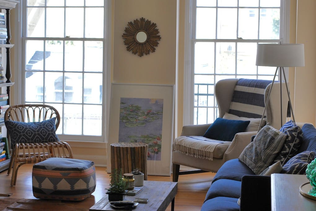 Sun-lit living room!