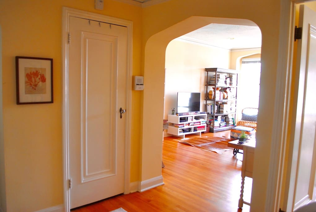 Foyer and living room entrance