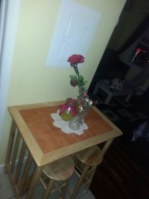 Two high chair table for meals