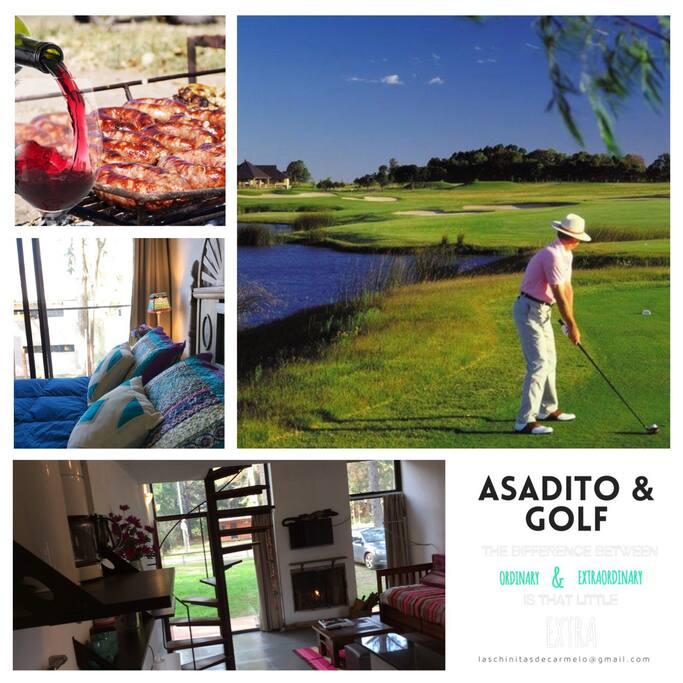 Somos vecinos del hotel Hyatt. Cruzando la ruta podrán disfrutar del Carmelo Golf con sus 18 hoyos!