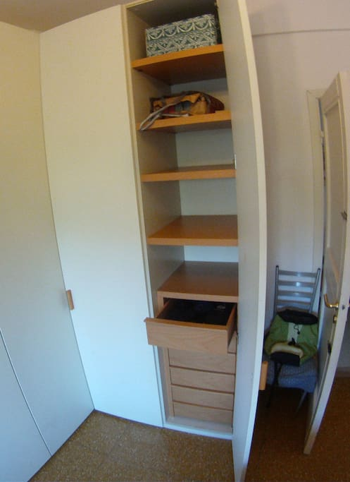 Free room in closet left for you