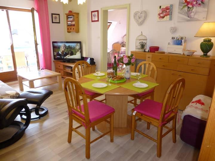 Bel appart T2 ds résidence, balcon, garage gratuit
