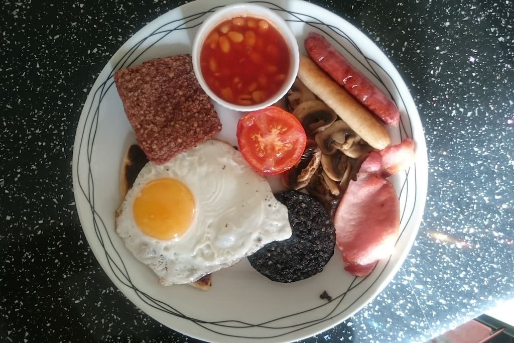 Optional Scottish breakfast. £5 per person
