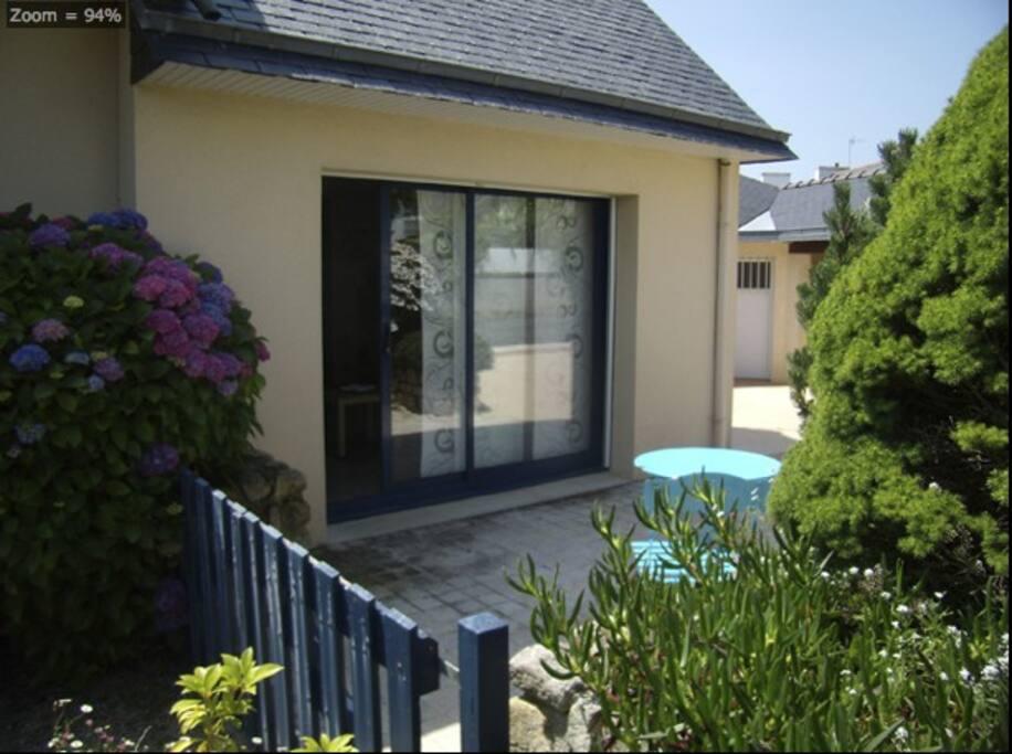 Maison De Bord De Mer En Finist Re Jardin Clos Casas