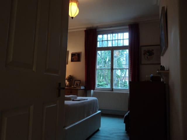 View of bedroom from entrance door