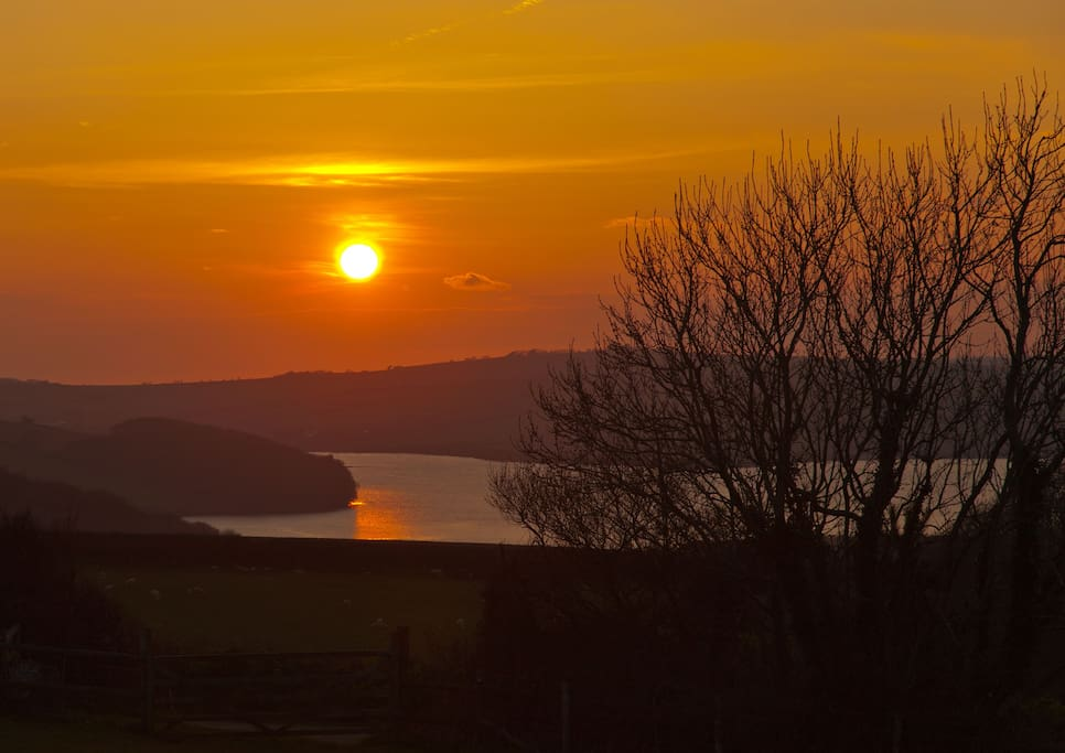 Sunset over the Salcombe Estuary