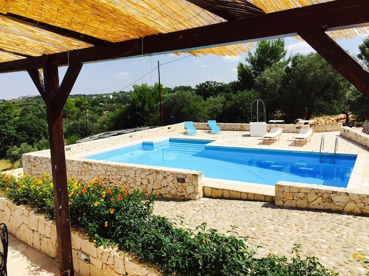 Amazing view Villa + stunning pool,Terrace,BBQ,AC