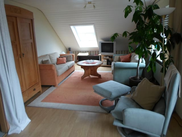 Sehr ruhige 3-Zimmer DG- Wohnung - Mühlhausen-Ehingen - Lägenhet