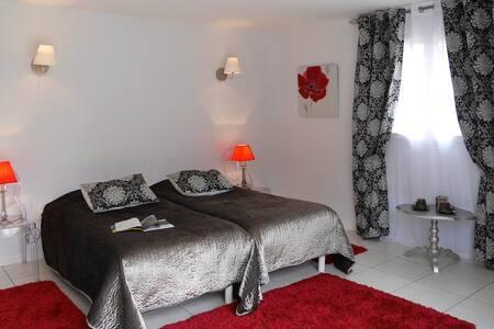 Chambre double coquelicot - Chouzy-sur-Cisse