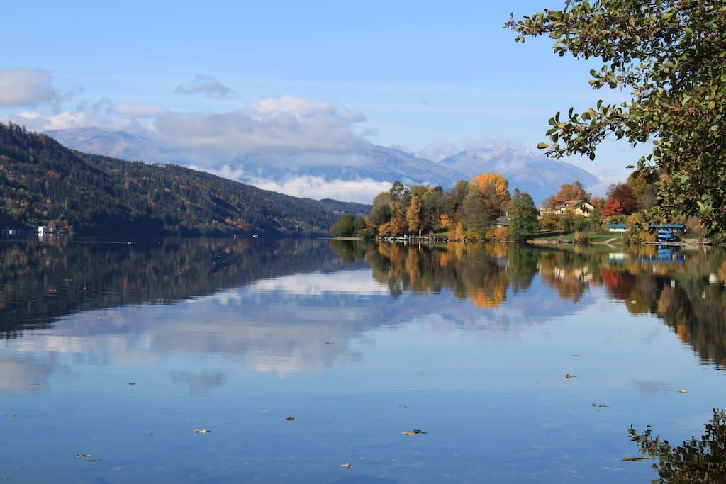 Millstätter See nur 3 Gehminuten entfernt