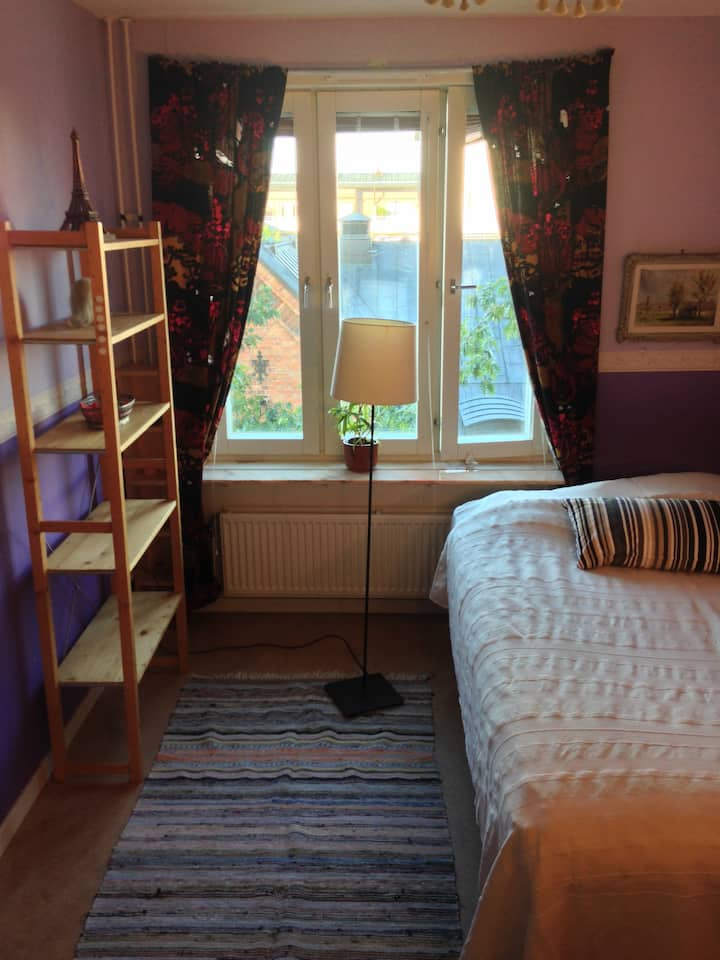 Large Purple Room Central Stockholm