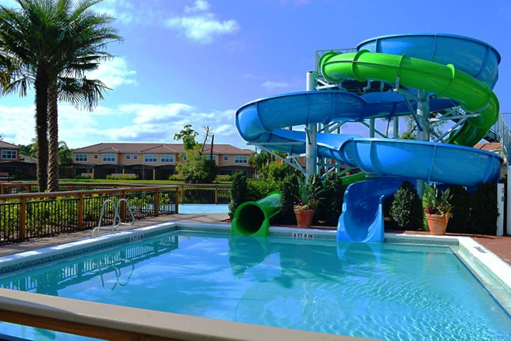 2 Waterslides with lifeguards on duty to ensure your families safety.