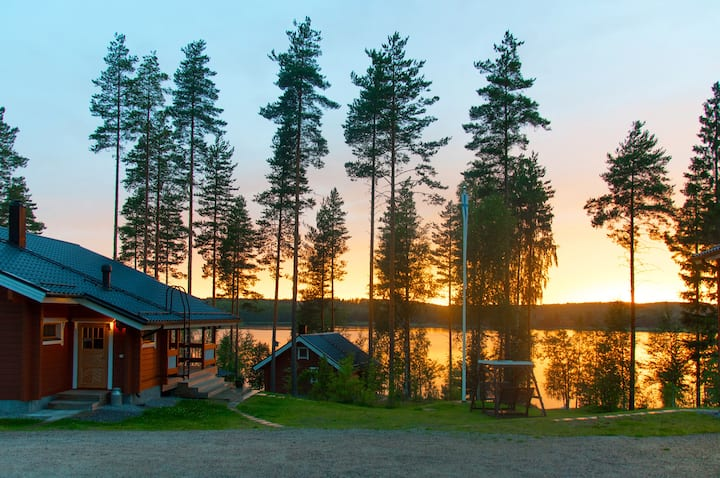 Villa Maaria log house for 12,Saimaa area