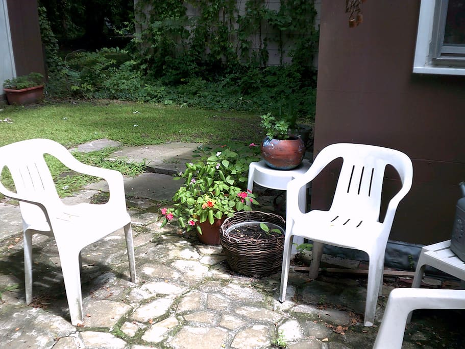 Patio outside back door