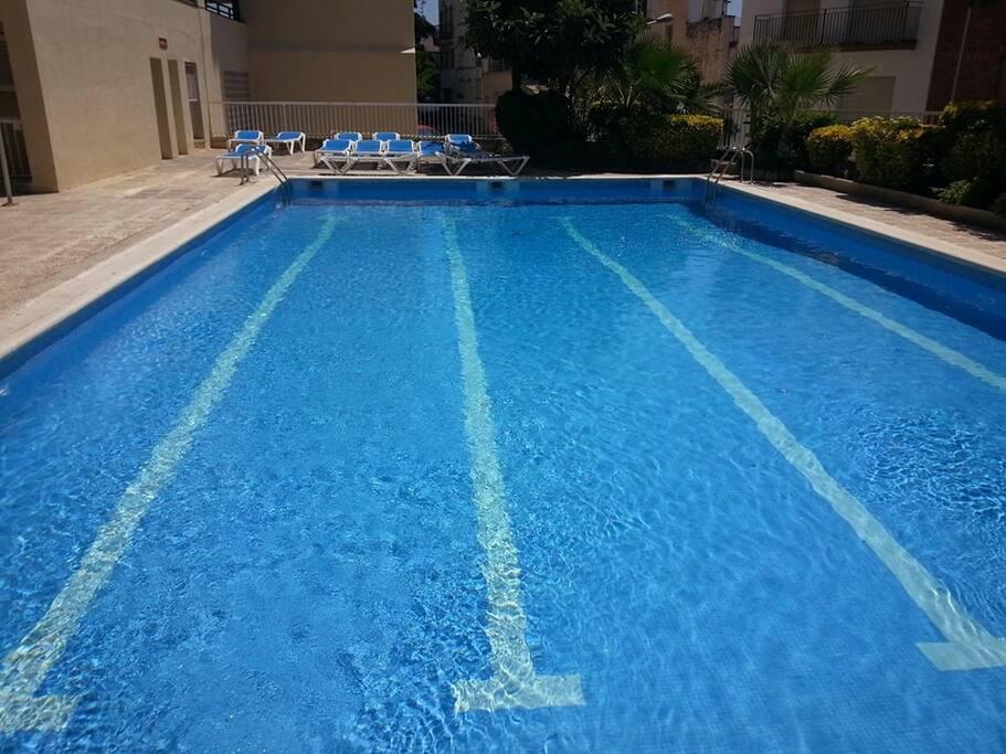 Piscina comunitaria. Swimming pool.