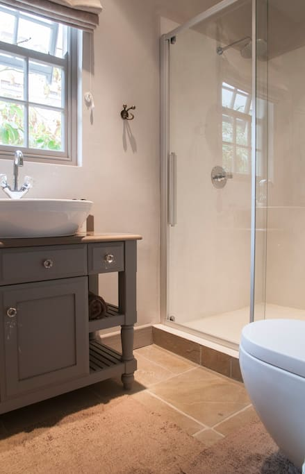 Large shower in guest ensuite