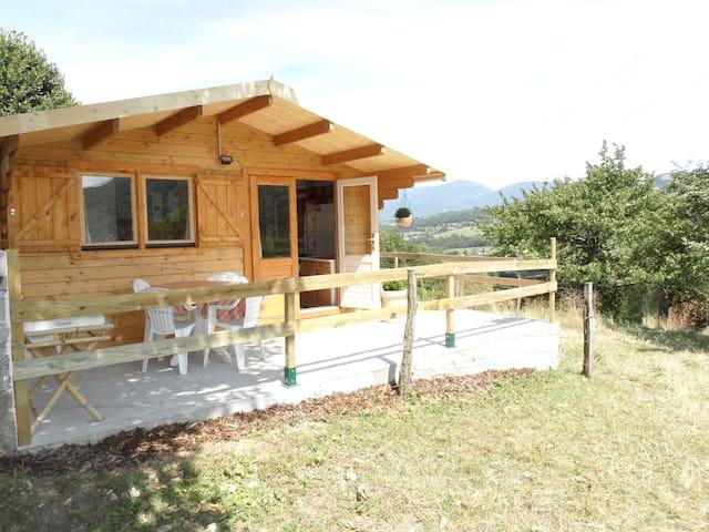 Chalet la Galopaz (20m2), terrasse. - Vimines-73160 - Alpehytte