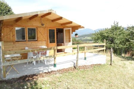 Chalet la Galopaz (20m2), terrasse. - Vimines-73160 - Almhütte