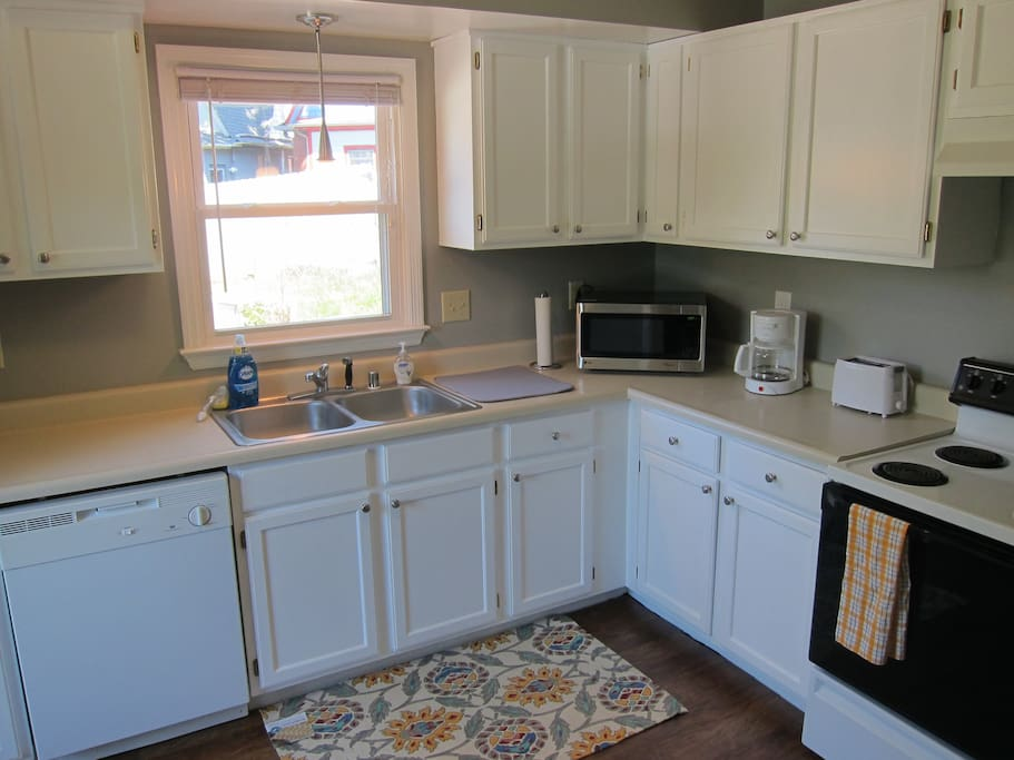 The spacious kitchen is perfect for preparing meals while visiting Lexington.