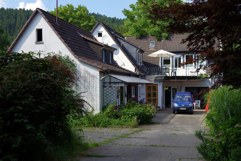 Auffahrt zum Grundstück / Peter's place: the yard
