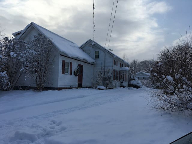 The house in winter!