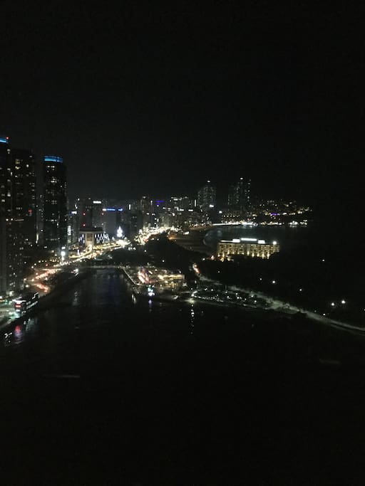 Haeundae-gu Beach at Night