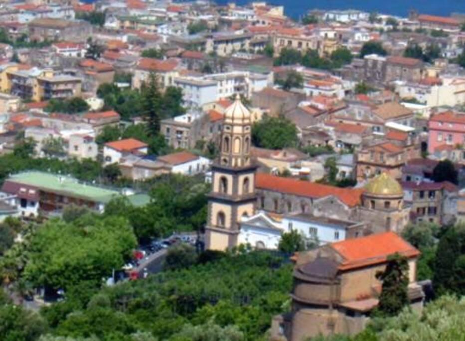 Villino Castellano location (on the right)