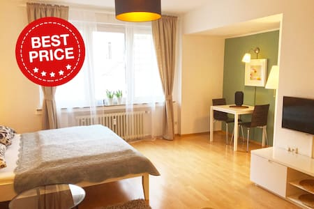 Modern Apartment in Dusseldorf Old town / City Center. The apartment is in a very quiet location.   Subway & Bus stations are just 1 min. away.  Fully equipped with modern interior offering everything for your daily needs.