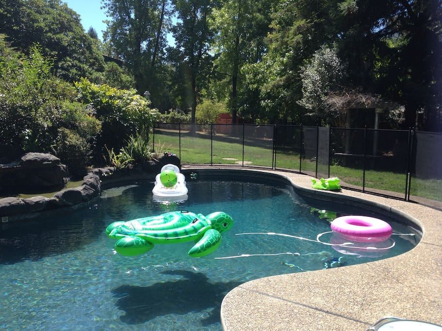 Complete access to pool (pool is fenced for little ones)
