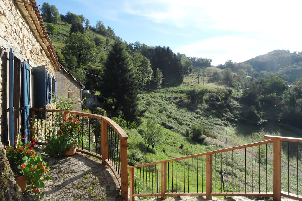 vue depuis terrasse