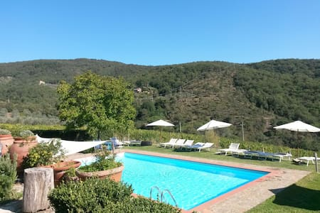 ORLANDO -3people-Terrace-Pool-Wine- - Greve in Chianti
