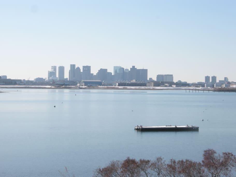 Beautiful views of Boston Skyline