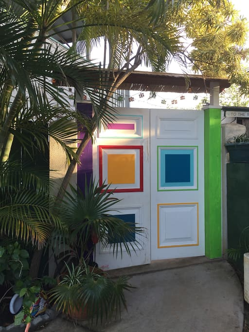Entrance to pool area and Poolside Studio Sweet