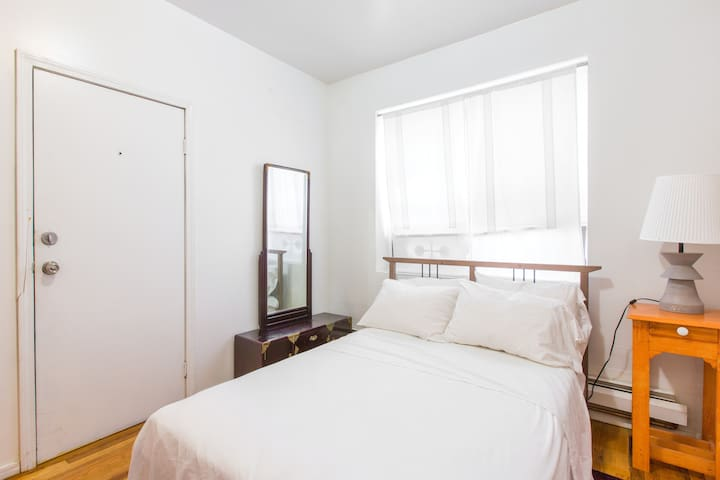 """""""The apartment was clean and had a nice smell. Nice and comfortable beds! Around 3 min walk to the grocery store, and restaurants on the same street, Subway is really close just across the street/stores. We had a really great stay!""""  - Zeynep Aug 2015"""