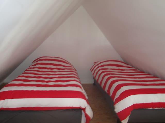 slaapruimte onder dak