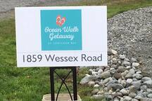 Look for this sign to find your  Ocean Walk Getaway!