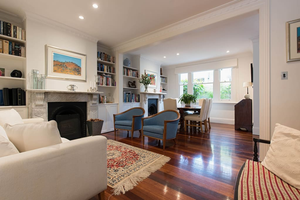 Open plan ground floor incorporating sitting and dining room