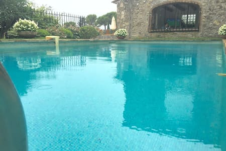 New Stone Seaview villa w/pool & AC - Mougins