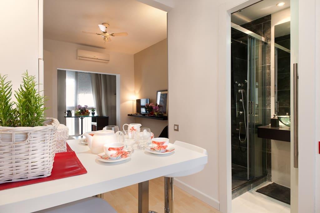 Romantic studio eixample derecha appartamenti in affitto for Affitti appartamenti barcellona spagna