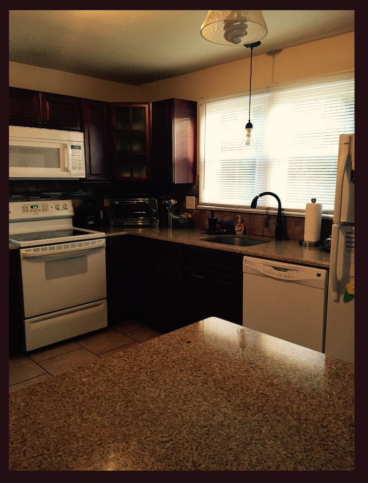 Brand new kitchen with Granite throughout. Modern appliances including a refrigerator freezer, electric oven, mocrowave and convection oven/toaster. Dishwasher and Spring Water cooler.