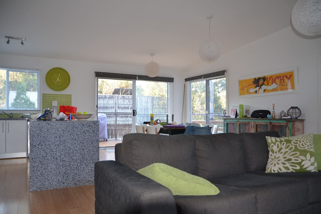 Our open plan living area, light bright and spacious.