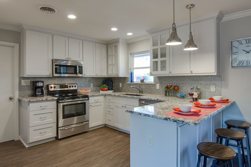 Large Spacious Kitchen with New Stainless Appliances