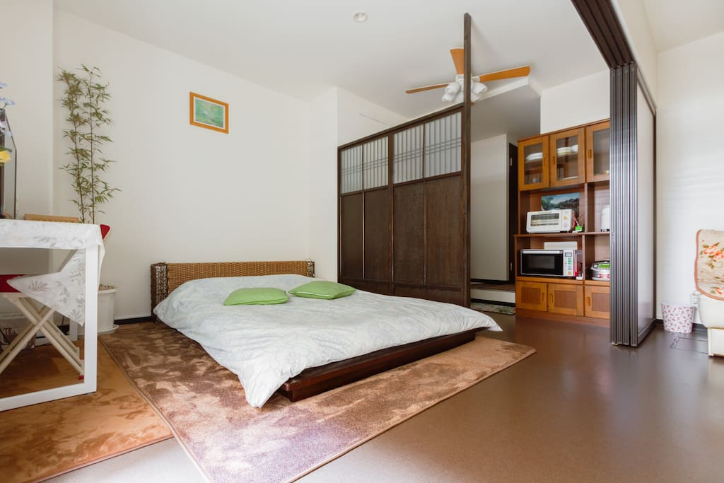 卧室B,160cm的藤床
