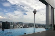 KL Tower view from the sky pool