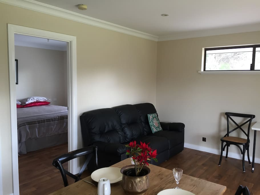 Living Area into Bedroom