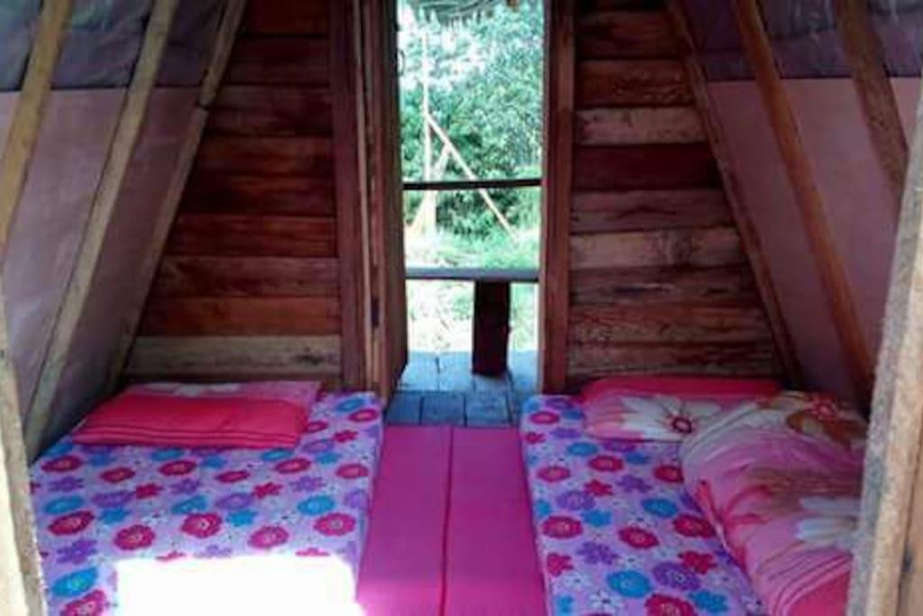 Inside the Premium hut