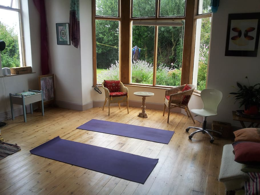 Use of owner's yoga and meditation studio by arrangement