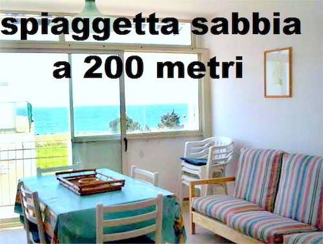 Seaview 200mt from small beach 4/5p - Nardò - Apartment